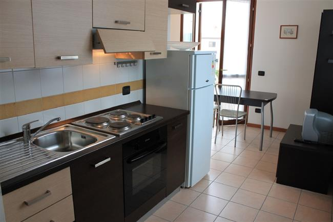 Living-kitchen with terrace